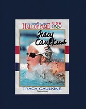 Tracy Caulkins signed Olympic Hall of Fame 1991 trading card