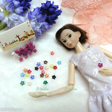 1/6 Bjd Doll Dress DIY Crafts Sewing Tiny Tools Button Star 6.5mm Rose (20pcs)