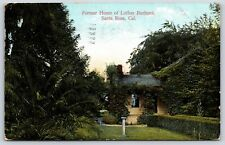 Former Home of Luther Burbank in Santa Rosa, California Divided Back Postcard