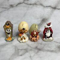 1997 Looney Tunes Halloween Candles Sylvester Daffy Duck Yosemite Sam Speedy