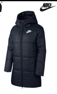NIKE WOMENS SIZE SMALL 8-10 BLACK SYNTHETIC FILLED PARKA COAT JACKET NEW