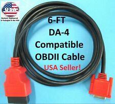 6FT Snap On Scanner DA-4 Compatible OBDII OBD2 Data Cable 4 SOLUS ULTRA EESC318