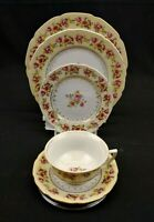 Gold Castle Hostess China 5 Piece Place Setting