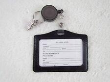 ID Badge Holder Card Case Badge Strap Tag Extends Key Belt Clip LANYARDs ID Badg