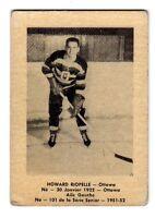 1X HOWARD RIOPELLE 1951 52 Laval Dairy QSHL #101 Ottawa