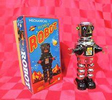 robot mécanique en tole. ROBY ROBOT modèle argenté ht 23 cm. MS 640 - NEUF