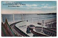 1921 REVERE BEACH Amusement Park VIRGINIA REEL PC Postcard MASSACHUSETTS Boston