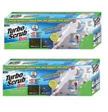 Turbo Scrub PRO - Cordless Rechargeable Floor Scrubber and Tile Cleaner 2 PACK!