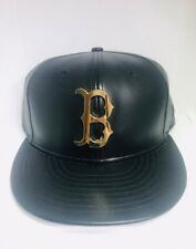 RARE! BOSTON RED SOX BLACK GOLD METAL BADGE NEW ERA 59FIFTY 7 1/4 FITTED HAT CAP