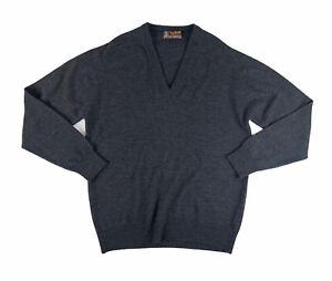 Men's John Smedley Extrafine Merino Wool Grey Jumper Sweater 42 Inches L - XL