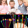 Creative  12pcs Mixed Candles Safe Flames Party Birthday Cake Happy Decorations