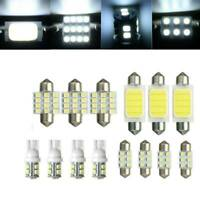 14X Assorted LED Car Interior Light Dome Trunk Map License Plate Lamp Bulb White