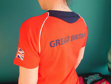 ADIDAS TEAM GB ISSUE -TRAINING FOR RIO 2016 - ATHLETE RED EVENT TEE-SHIRT