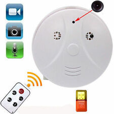 Mini HD SPY DVR Hidden Camera Smoke Detector Motion Detection Video Recorder Cam
