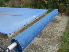 Schwimmbadabdeckung: Aufrollvorrichtg mit Solar-/Luftpolsterfolie