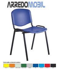 Stock 60 sedie fisse colorate per sala riunione formazione conferenze scuola