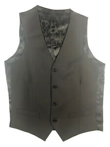 Luigi Bianchi Vest Small/48 Solid black Wool/Mohair