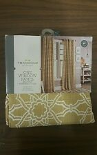 Threshold, One Window Panel/Curtain Multiple Hanging Styles Tan/White Tile 54X84