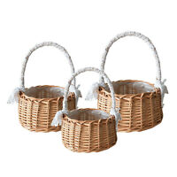 Fresh Rattan Storage Basket Picnic Flower Girl Gifts Wicker Flower Pot