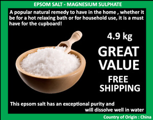 Epsom Salt Magnesium Sulphate 4.9kg Bath Salt