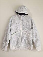 Salomon Hooded Ski Snow Board Jacket (Lightweight) White Size M