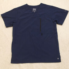 Barco One Blue Solid Scrubs Tee T-Shirt Top Medical Nursing Nurse 2 Pocket Y13