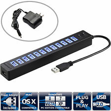 Sabrent 13 Port High Speed USB 2.0 Hub with Power Adapter (HB-U14P)