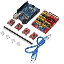 CNC Shield UNO R3 Board 4xA4988 Driver Kit With Heatsink For Arduino  3D Printer
