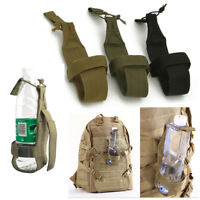 Tactical Nylon Water Bottle Holder Belt Carrier Molle Pouch Hiking Kettle Bag