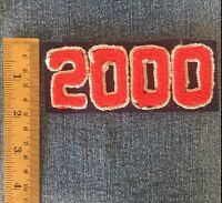 Chenille Patch Class Of 2000 Red Navy Vintage Letterman Sew On Embroidered Felt