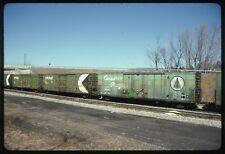 Original Train Slide Kodak Kodachrome CP Rail Canadian Pacific Box Car Railroad