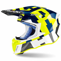 Airoh Off Road Twist 2.0 Moto Motorcycle Motorbike Helmet Frame Gloss Blue