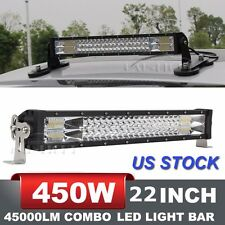22Inch 450W OSRAM LED Light Bar Spot Flood Combo Offroad Driving Lamp 4WD Jeep