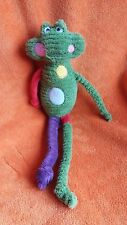 """Mamas & Papas Green Frog Giocattolo Morbido Con Sonaglio Bambino giocattolo morbido 17"""""""