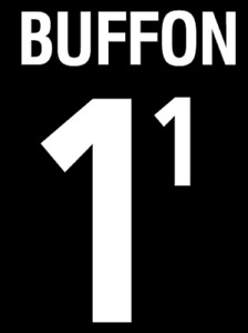 Buffon #1 World Cup 2002 Italy Home  Football Nameset for shirt