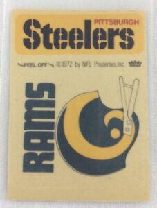 NFL 1972-74 Fleer Team Football Sticker-Pittsburgh Steelers-Los Angeles Rams