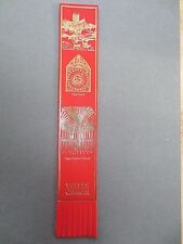 BOOKMARK LEATHER Wells Cathedral Somerset Clock Chapter House Red Gold