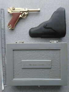 Collectable Miniature Toy 9mm Luger Cap-Gun - Holster and Box - by Marx