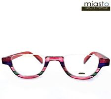 MIASTO TOP RIMLESS HALF MOON BIG 1/2 OVAL READER READING GLASSES+1.50 RED LARGE