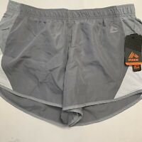 RBX Performance Women's Running Shorts Athletic Stretch Grey Orange Size Medium