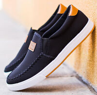 Men's Leisure Driving Shoes Canvas Shoes Breathable Slip-on Shoes Sneakers