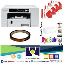 Sublimation Printer SG400 + HD Ink Set CMYK + + 1 SubliTape + 100 Sh SubliPaper