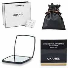 Coco CHANEL Mirror Double Facette with Shop Bag Beauty Compact Makeup Cosmetic