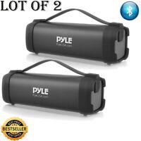 (2) Pyle Portable Bluetooth Wireless Speaker, Rechargeable Battery,FM Radio,USB