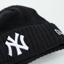 NEW ERA Cap MLB New York Yankees Strick Mütze Beanie Waffle Schwarz Rot SALE