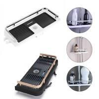 Black/White Largre Bathroom Pole Shelf Shower Storage Caddy Rack Organiser Tray