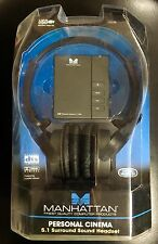 New USB Manhattan Personal Cinema 5.1 Surround Sound Headset