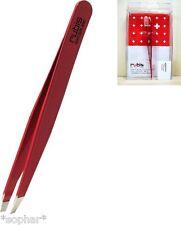 RUBIS Switzerland Stainless Steel RED SLANT TIP TWEEZERS Eyebrows Beauty Tweezer