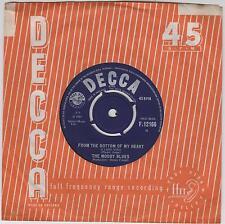 "THE MOODY BLUES - From The Bottom Of My Heart - 1965 UK  2-track 7"" vinyl single"