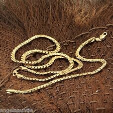 18K Yellow Gold Filled Snake Bone Necklace/Bracelet Set (S-144)